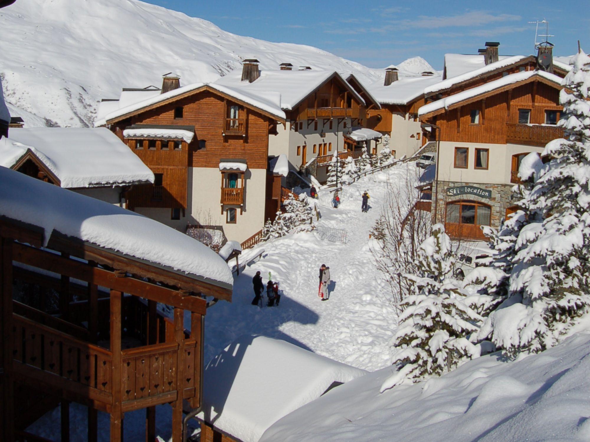 Chalet-appartement Montagnettes Hameau de la Sapinière met sauna - 8 personen